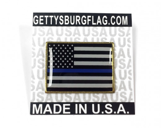 Thin Blue Line Lapel Pin on Card