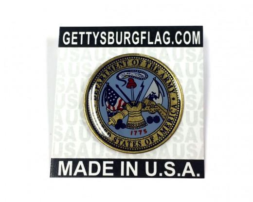 Army Seal Lapel Pin Card