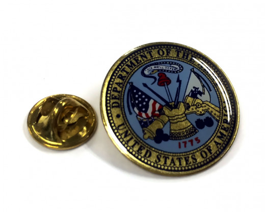 Army Seal Lapel Pin Clutch