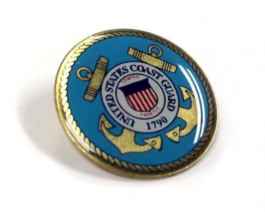Coast Guard Seal Lapel Pin