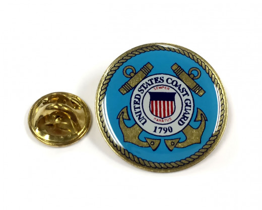 Coast Guard Seal Lapel Pin Clutch