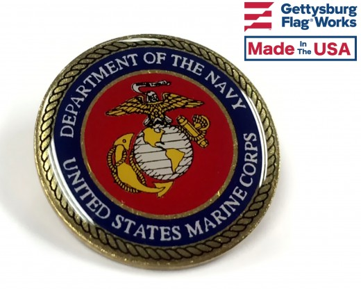 Marine Corps Seal Lapel Pin (Round Emblem Design)