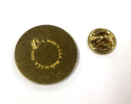 Marine Corps Round Lapel Pin-Blue