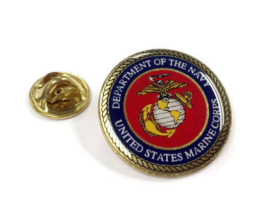 Marine Corps Seal Lapel Pin Clutch
