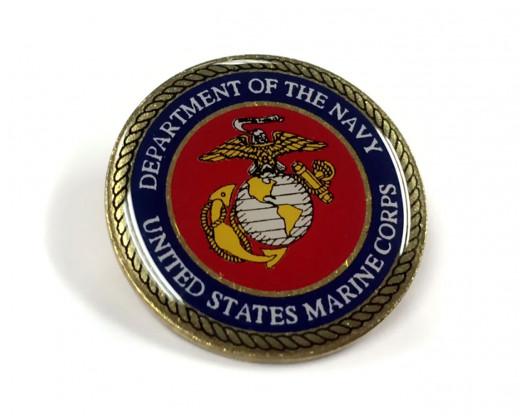 Marine Corps Seal Lapel Pin