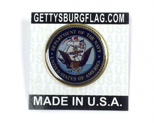 Navy Lapel Pin Card
