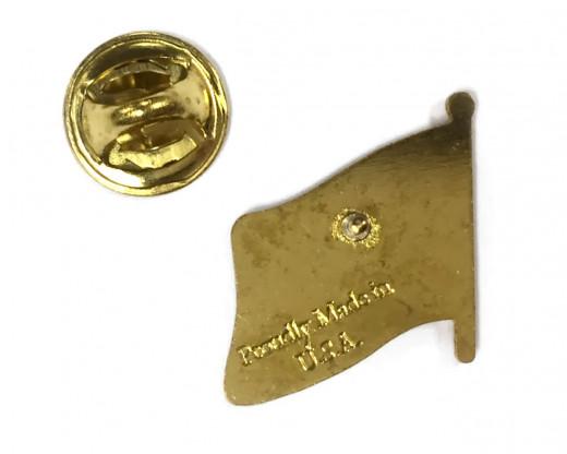 POW/MIA Flag Pin Back