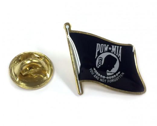 POW/MIA Flag Lapel Pin