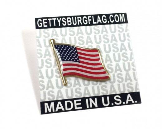USA Lapel Pin on card