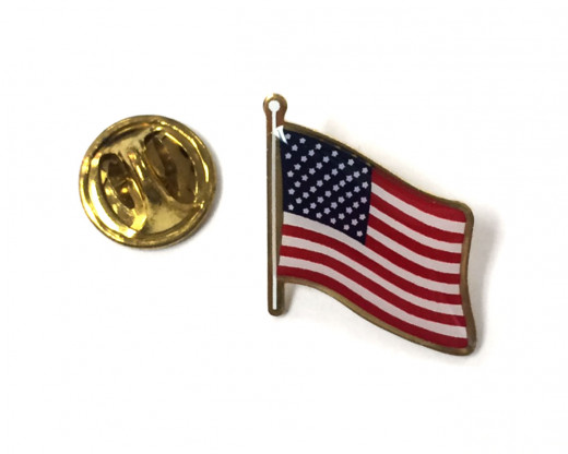 USA Lapel Pin with Clutch