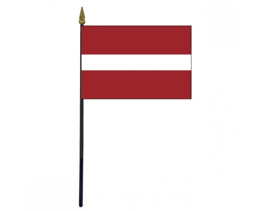 Latvia Stick Flag - 4x6""
