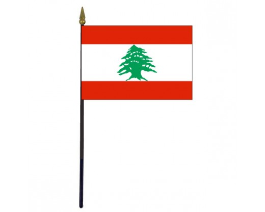 Lebanon Stick Flag - 4x6""