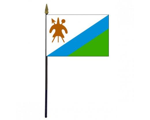 "Lesotho Stick Flag (Historical 1987-2006) - 4x6"""