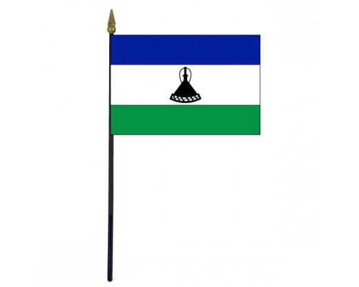 "Lesotho Stick Flag - 4x6"""
