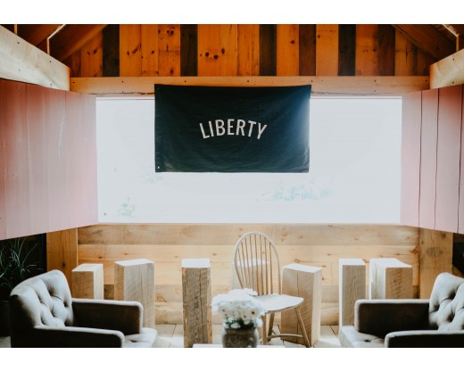 Liberty hanging in window