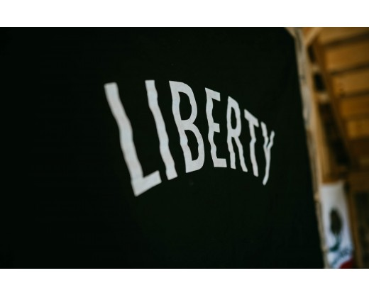 Liberty flag letters