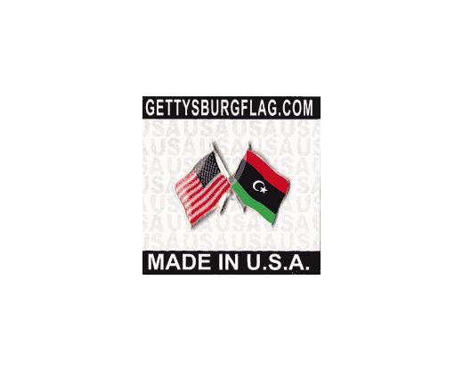 Libya Lapel Pin (Double Waving Flag w/USA)