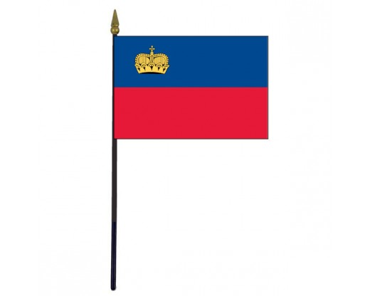 Liechtenstein Stick Flag - 4x6""