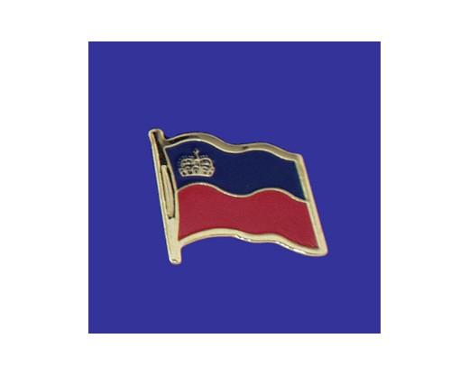 Liechtenstein Lapel Pin (Single Waving Flag)