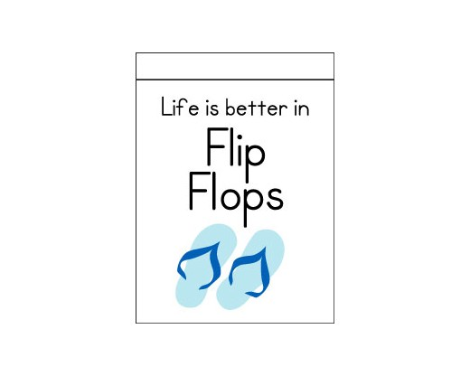 Life Is Better In Flip Flops Flag