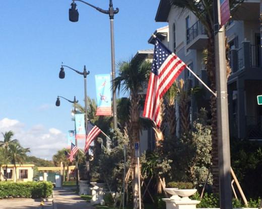Street Pole Flag Set