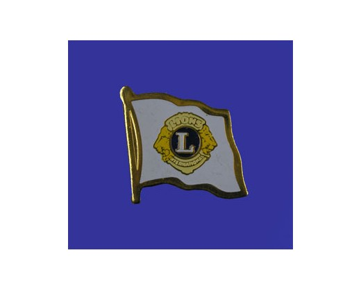 Lions Club Lapel Pin (Single Waving Flag)