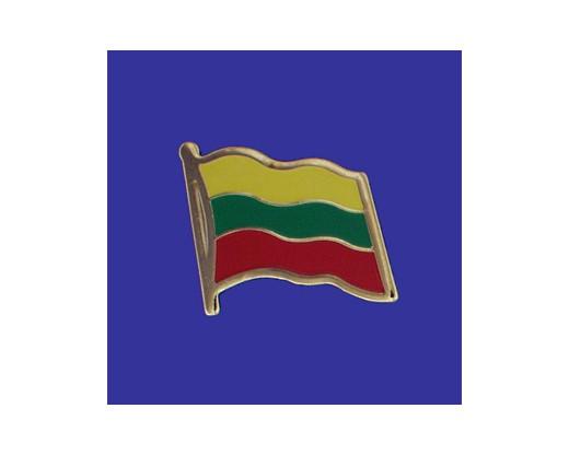 Lithuania Lapel Pin (Single Waving Flag)
