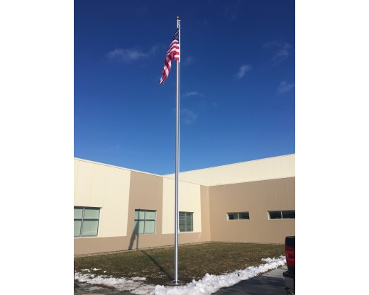 Commercial Aluminum In Ground Flag pole