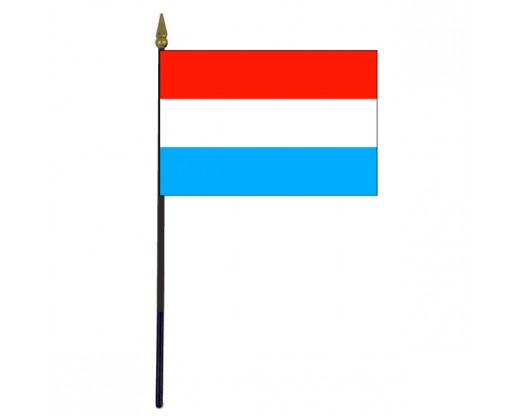 Luxembourg Stick Flag - 4x6""