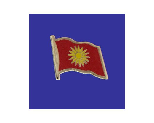 Macedonia Lapel Pin (Single Waving Flag)