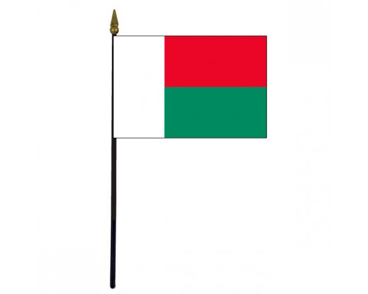 Madagascar Stick Flag - 4x6""