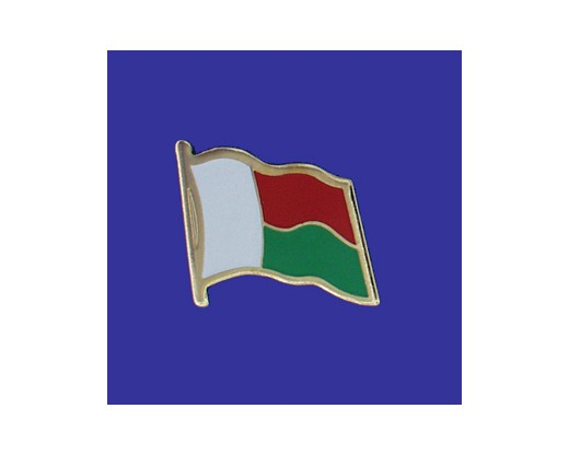 Madagascar Lapel Pin (Single Waving Flag)