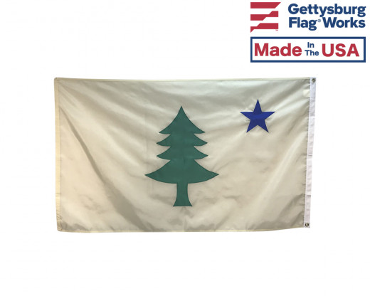 original maine historic flag back