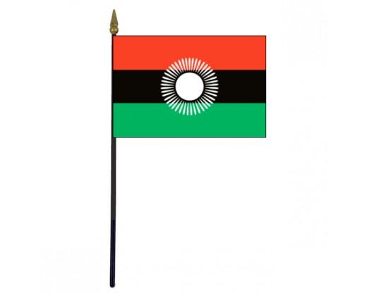 "Malawi 2010 Stick Flag - 4x6"""