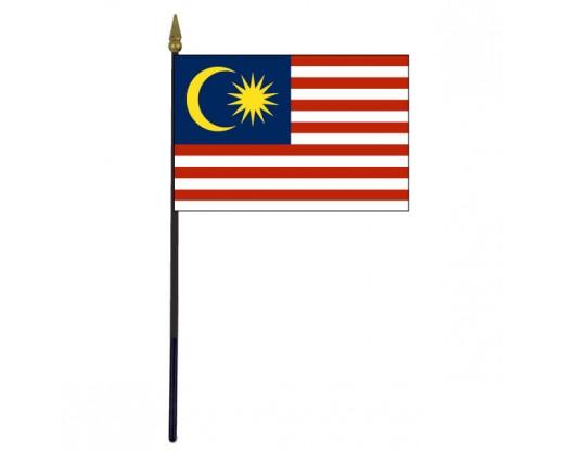 "Malaysia Stick Flag - 4x6"""