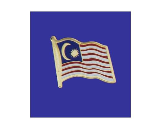 Malaysia Lapel Pin (Single Waving Flag)
