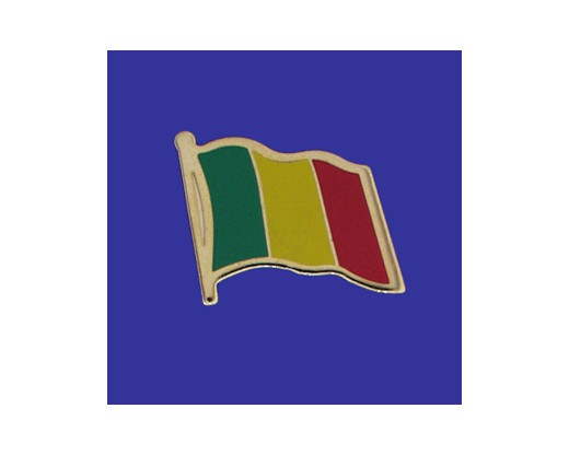 Mali Lapel Pin (Single Waving Flag)