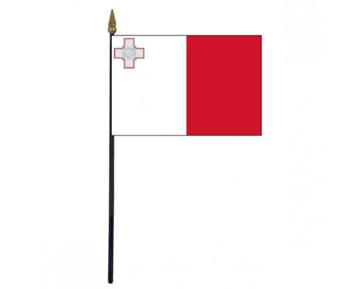 """Malta Stick Flag - 4x6"""""""