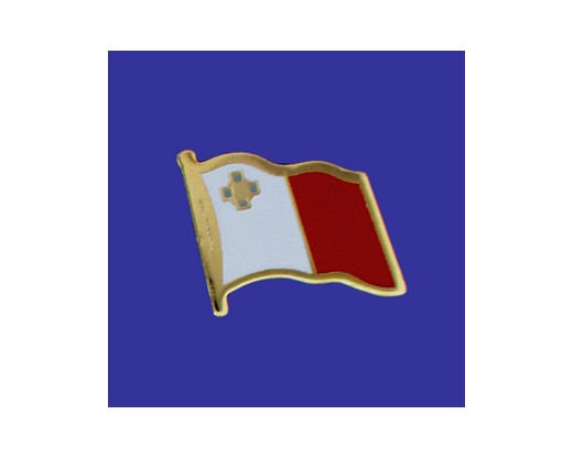Malta Lapel Pin (Single Waving Flag)