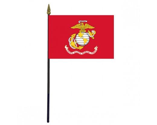 "Marine Corps Stick Flag - 4x6"""