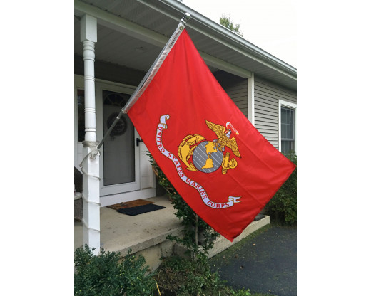 Marine Corps Flag on porch