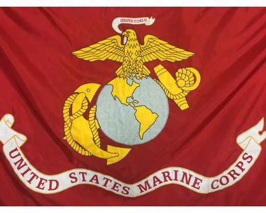 U.S. Marine Corps Applique Flag, 3x5