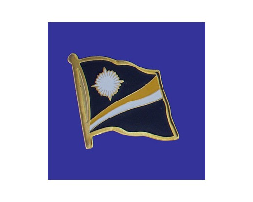 Marshall Islands Lapel Pin (Single Waving Flag)