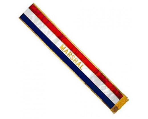 Red, White and Blue Mrshal Parade Sash