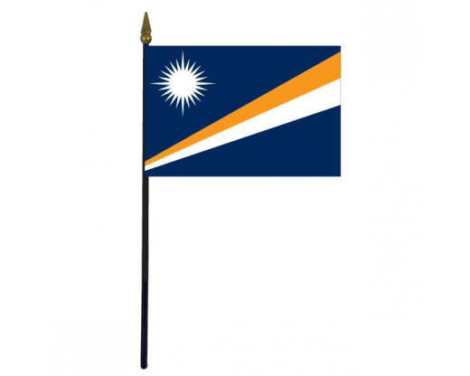 Marshall Islands Stick Flag - 4x6""