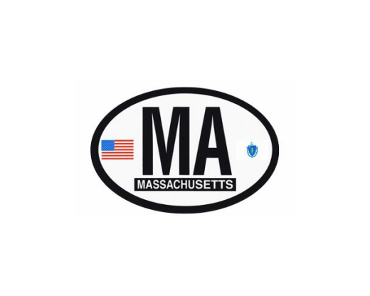 Massachusetts Oval Sticker