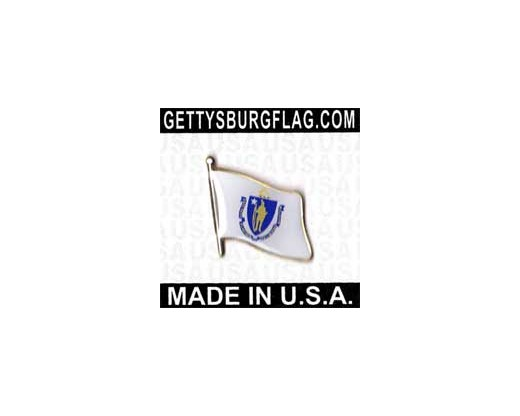 Massachusetts State Flag Lapel Pin
