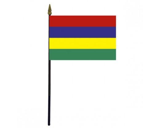 "Mauritius Stick Flag - 4x6"""