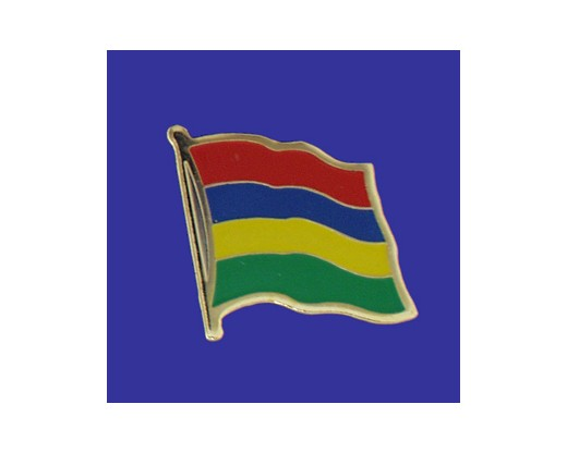 Mauritius Lapel Pin (Single Waving Flag)