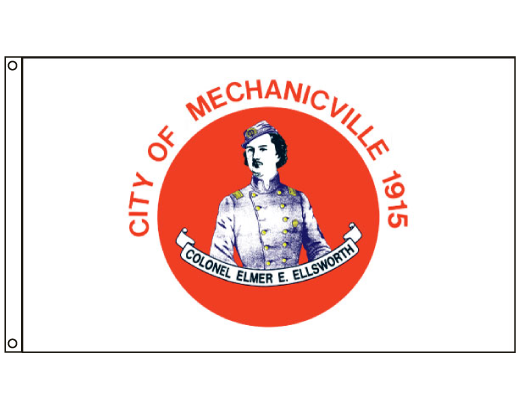 City of Mechanicville Flag (New York, USA), Header & Grommets - 3x5'
